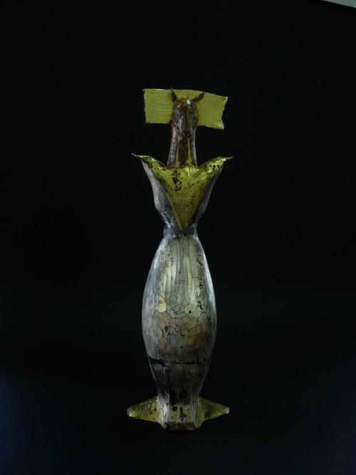 木彫+陶彫